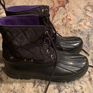 Sherry topsides black rubber rain boots